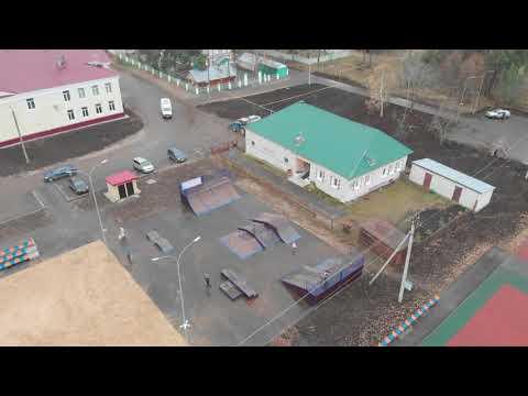 Съемка набережной г Звенигово с квадрокоптера