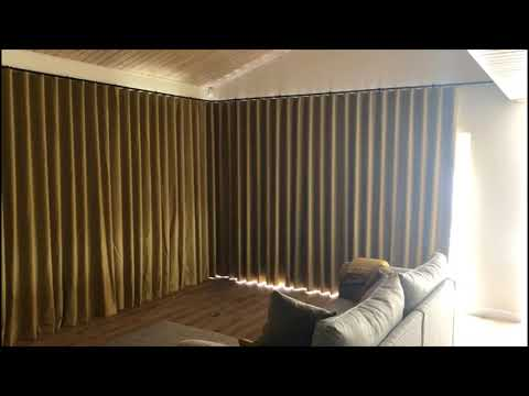 Electric Curtain Track with Wave Curtains