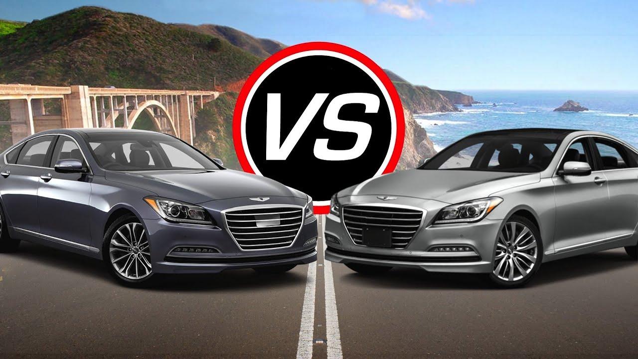2016 Hyundai Genesis V6 vs Genesis V8 - Spec Comparison! - YouTube