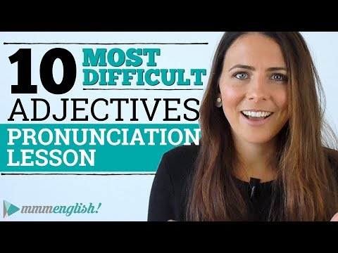 10 DIFFICULT ADJECTIVES | English Pronunciation Lesson