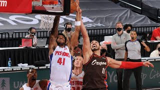 Kanter 24 Pts 30 Rebs vs Pistons! Lillard 27 Pts! 2020-21 NBA Season