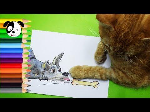 COCO DISNEY-Cómo dibujar y colorear a Dante-Dibujos para niños-How to draw Dante-Art color kids