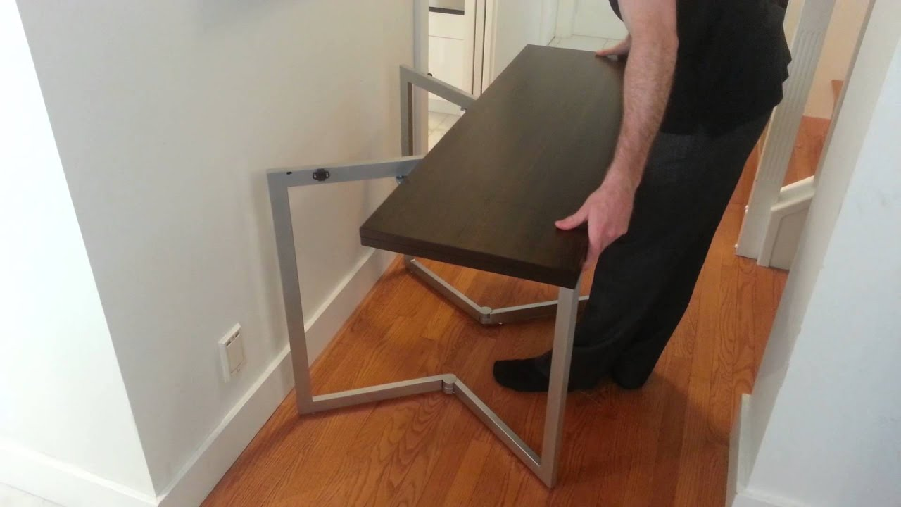 Compact Console Table Transforms Into Larger Table By Expand Furniture    YouTube