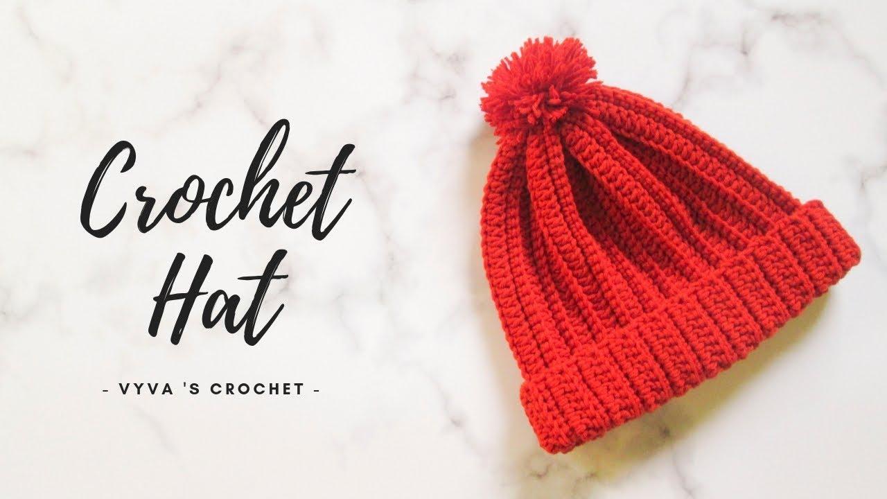 Crochet Hat | Hướng dẫn móc mũ len họa tiết nổi gân siêu đơn giản | Vyvascrochet