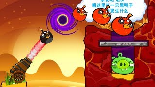 Angry Birds Cannon Bird 3 - BREAK THE STONE WITH BOMBER BIRD TO HIT PIGGIES UNDER IT!