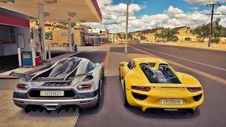 Koenigsegg One:1 VS Porsche 918 Spyder - Forza Horizon 3 Online - GoPro - G27 ‹ ZoiooGamer ›