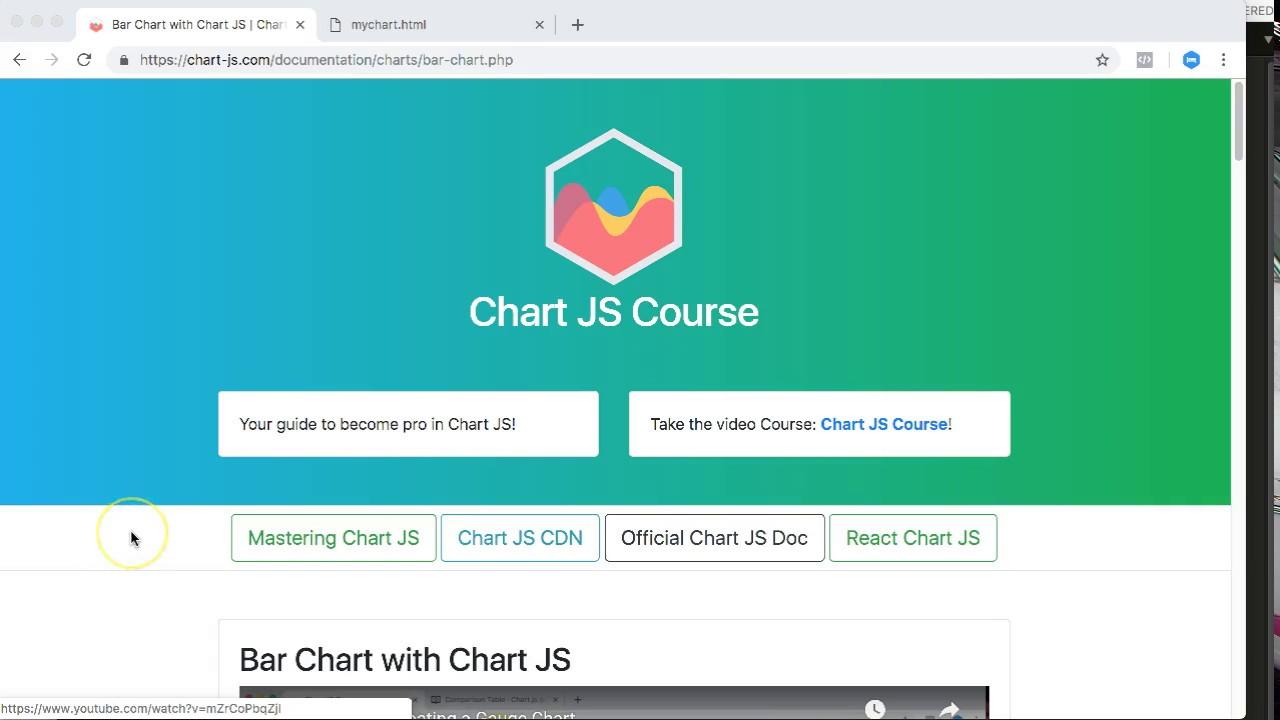 Bar Chart with Chart JS | Chart JS Course