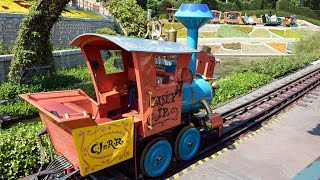 Casey Jr. Circus Train Full Ride at Disneyland, w/Matterhorn, Storybook Canal, Arrendelle Views