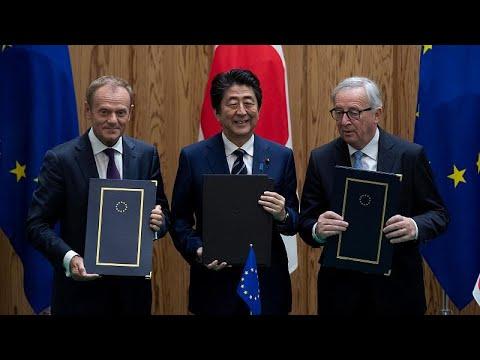 توقيع اتفاق تاريخي للتجارة الحرة بين الاتحاد الأوروبي واليابان…  - نشر قبل 2 ساعة