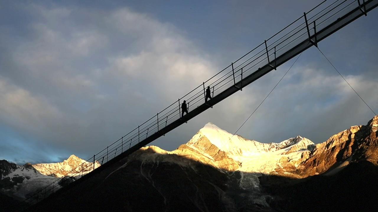 Kletterausrüstung Zermatt : Wanderung europaweg grächen zermatt mit hängebrücke u2022 karte