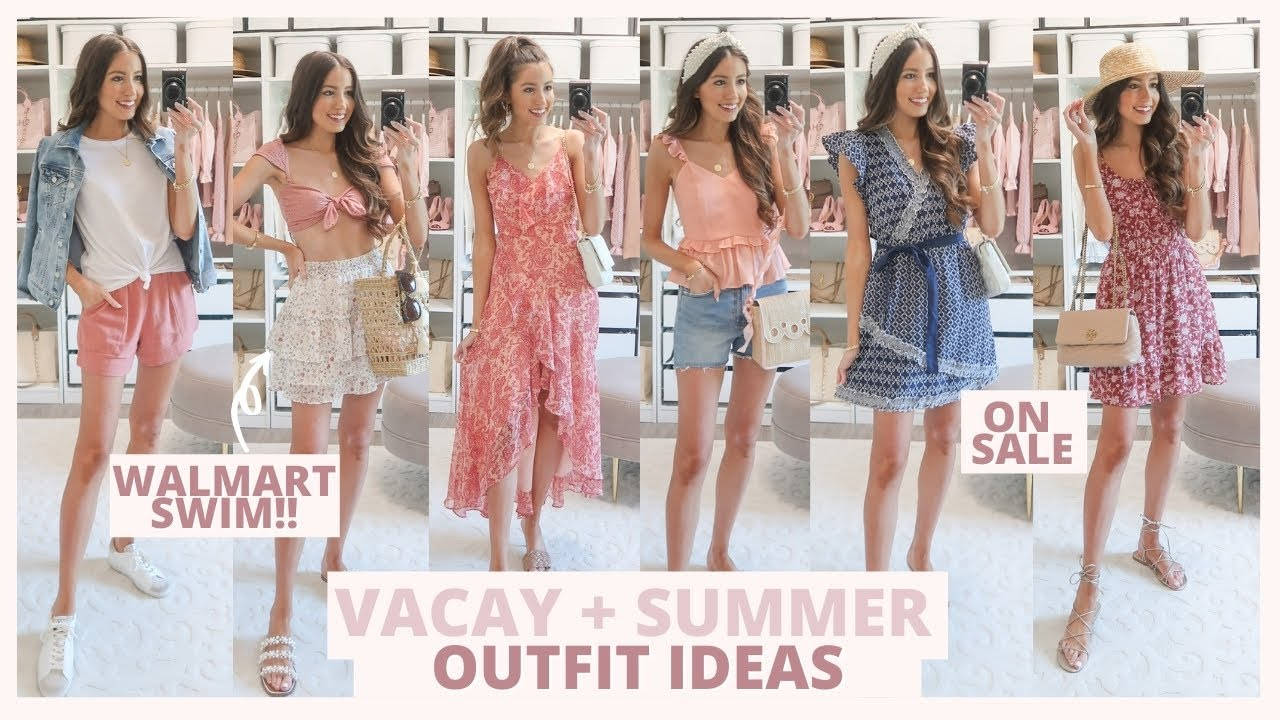 SUMMER + VACATION OUTFIT IDEAS 2021 | Nordstrom, Walmart, Abercrombie, + Express Try On Haul