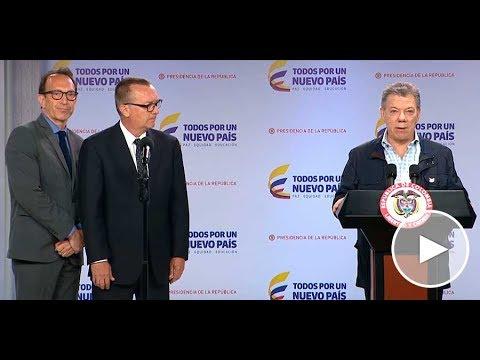 Presidente Santos y Jeffrey Feltman, Secretario General Adjunto para Asuntos Políticos de la ONU