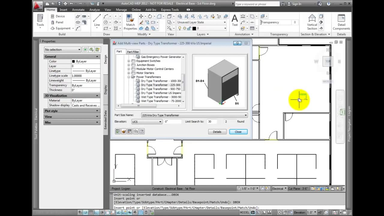 AutoCAD MEP 2012 Tutorial Adding Electrical Equipment and Panels