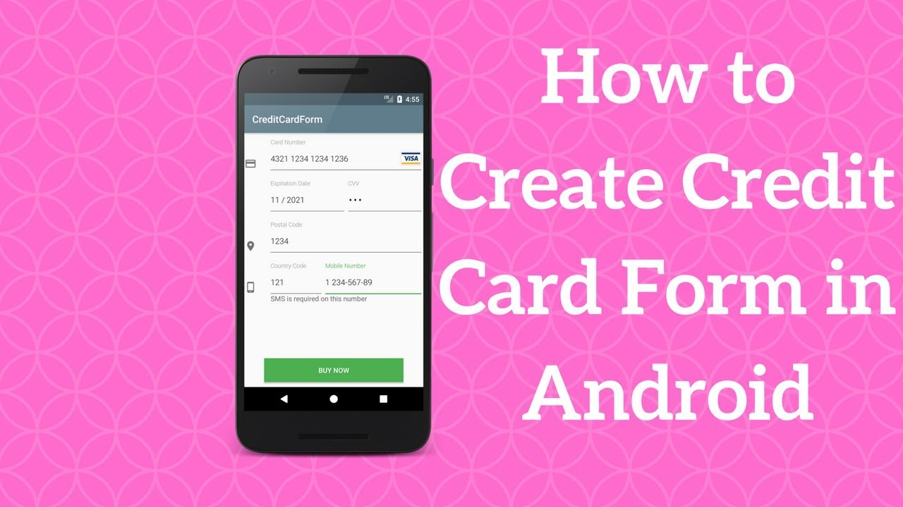 Android Credit Card Form Tutorial (Demo)