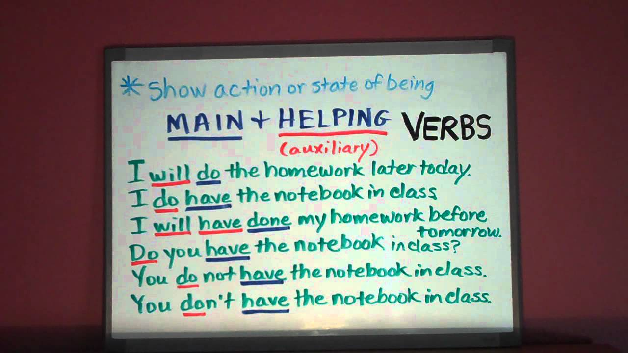 Copy Of Helping Verbs Lessons Tes Teach – Main and Helping Verbs Worksheets