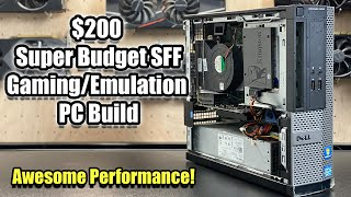 $200 Super Low Budget SFF Gaming / Emulation PC Build - Amazing Performance for the Price!