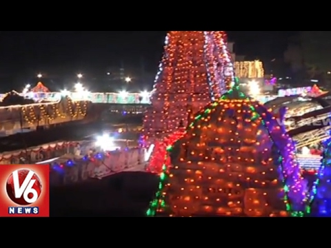 Maha Shivaratri Brahmotsavalu : Vemulawada Raja Rajeswara Swamy Temple Deckedup With Lights   V6News