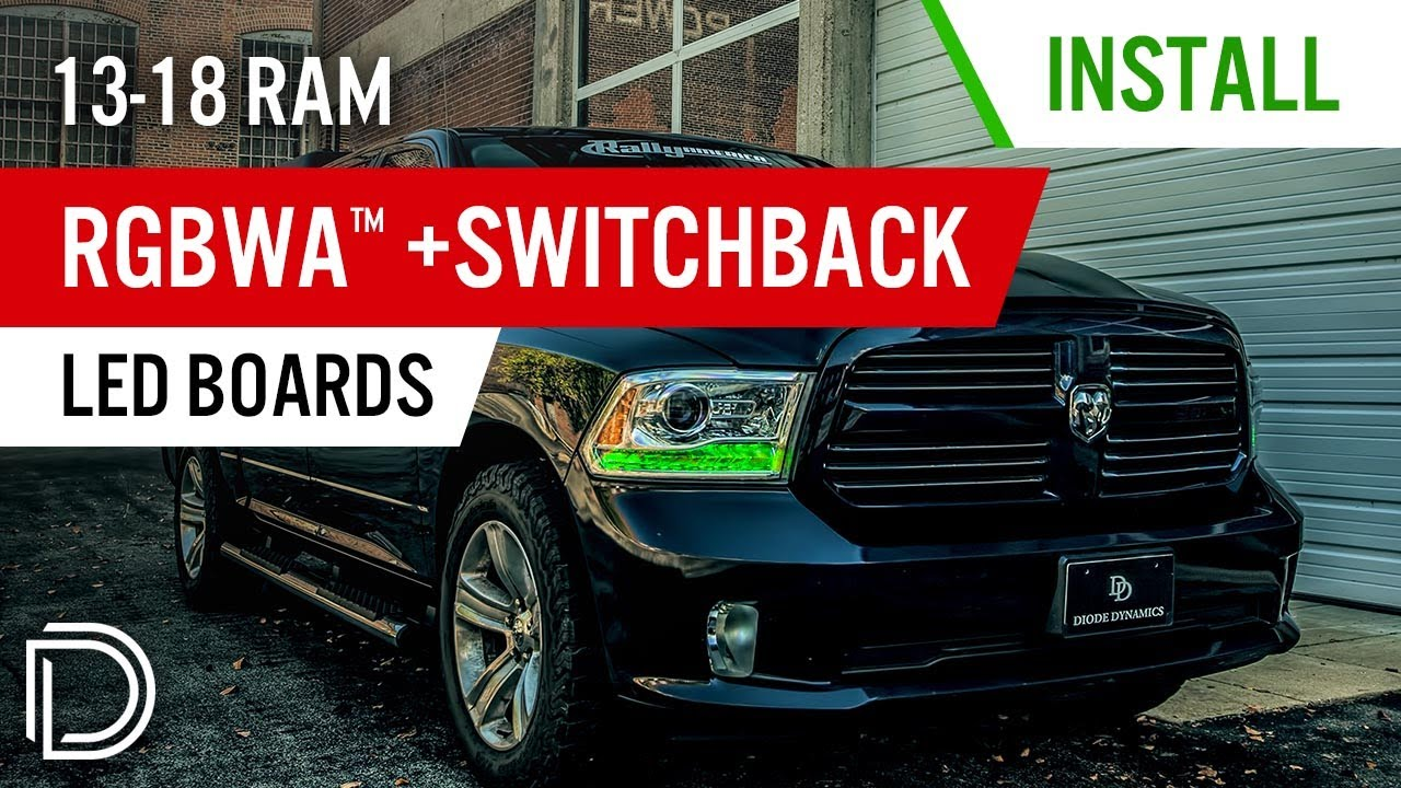 How To Install 2017 2016 Ram Rgbwa Switchback Drl Led Boards By Diode Dynamics