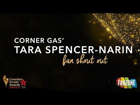 Corner Gas' Tara SpencerNarin  Shout Out