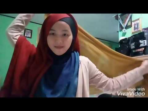 Tutorial Hijab Segi Empat Dua Warna By Sr Youtube