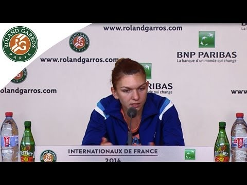 Press conference S.Halep 2014 French Open Final