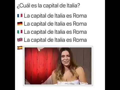 Cuál es la capital de Italia??