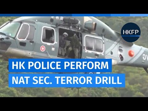 Hong Kong police perform 'terror drill' for National Security Education Day.