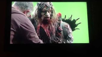The Hobbit Behind the Scenes with Conan Stevens as Costume Bolg.