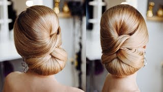 Simple Formal  Cute Hair Do Tutorial | Elegant  red carpet Low bun Idea