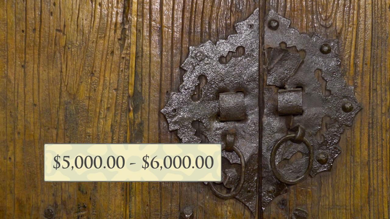 Antique Asian Garden Doors - Antique Asian Garden Doors - YouTube