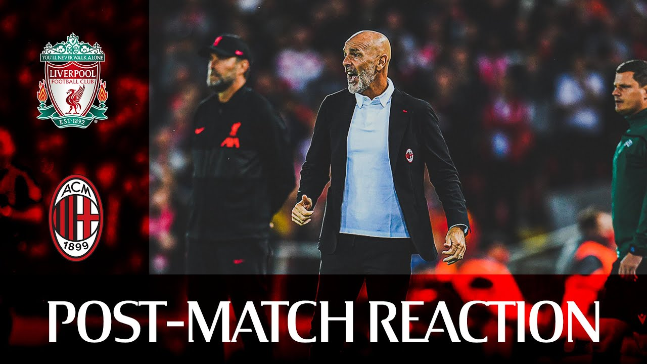 #LiverpoolMilan | Pioli, Calabria, Leão post-match reactions | Champions League
