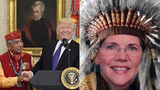 Donald Trump Triggers Pocahontas Warren at Navajo Code Talkers Event (REACTION)