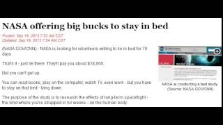 NASA offering big bucks to stay in bed