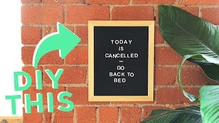 DIY FELT LETTER BOARD | THE BEST WAY!
