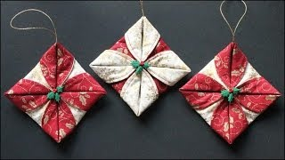 Folded Fabric Ornaments