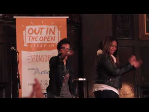 Chicago Out in the Open Sleep In raises funds for youth homelessness, 2-24-2017, 2 of 8