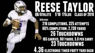 Reese Taylor QB, Class of 2018 Highlights