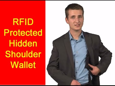 RFID Blocking Shoulder Wallet - Travel Pocket Travel Security Wallet