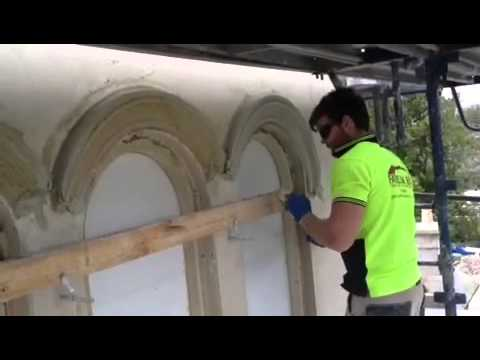 Running arched window moulds insitu