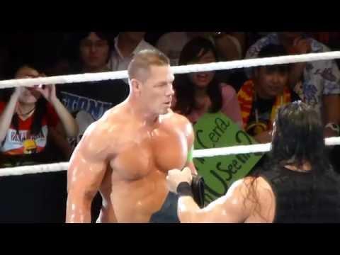 WWE LIVE TOKYO JAPAN 15 January 2017 ROMAN REIGNS VS JOHN CENA STREET FIGHT