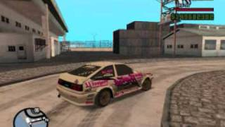 GTA San Andreas: Drift in Ocean Docks with Toyota Trueno AE86