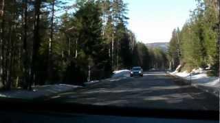 Fahrt zum Ausgangspunkt - kein Schnee in Norwegen weit und breit