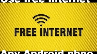 Free internet use withaut data Any Android phone