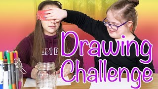 She Cheated!! Blindfolded Drawing Challenge (Olivia Haschak vs Sarah Grace)