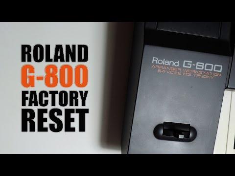 Roland G-800 factory reset : Tuto FR