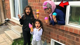 Greedy Granny Kids Pretend Play In Real Life surprise Ice Cream store