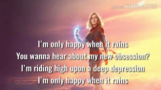 Soundtrack Song Credits Only Happy When It Rains Captain Marvel 2019