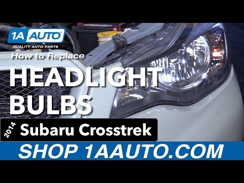 How To Replace Headlights Bulbs 14-17 Subaru Crosstrek
