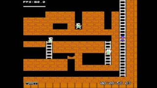 Lode Runner (NES 1984) Complete Game Stage 1~Stage 10