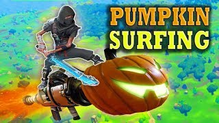 Fortnite Funny and WTF Moments (PUMPKIN SURFING!) (Battle Royale)